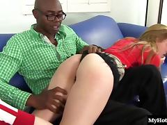 Cute barely legal chick wants to feel a guy's hard black tool