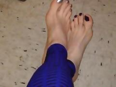 Feet and leggings