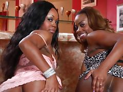 Ebony Lesbian Babe Has Her Pussy Licked