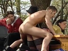 Bisexual, Bisexual, Facial, Flashing, Gangbang, Hardcore