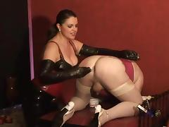 German mistress slave anal training