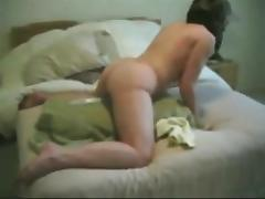 Milf Marie 50 cumming on her hands and knees