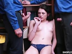 All, Brunette, Police, Teen, Threesome
