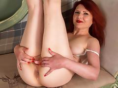 Redhead mature solo