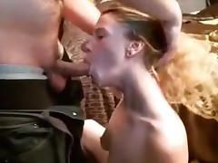 Blonde, Amateur, Blonde, Blowjob, Deepthroat, Horny