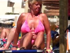 Spy beach mature granny saggy huge nipples