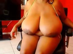 African, African, BBW, Big Tits, Black, Boobs