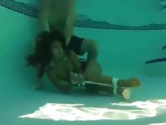 BDSM Edgeplay - Choke tied up dirty girl under water