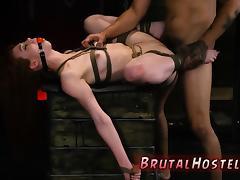 BDSM, BDSM, Blowjob, Brunette, Double, Extreme