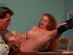 Deepthroat Anal and Cunt Fucking Action in this Unshaven Pussy Redhead Woman Hardcore Video