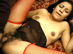 Cum Thirsty Latina Likes When Her Hairy Pussy Being Fucked by a Stranger