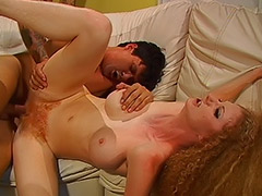 Redhead Queen with Big Hairy Pussy is a Real Hardcore Specialist Fucked in all Holes