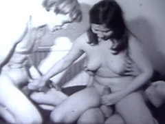 Antique, Blowjob, Brunette, Classic, Hairy, Masturbation