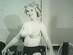 Smart Blonde Taking off Her Clothes 1950