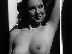 1950, Ass, Babe, Brunette, Classic, Masturbation
