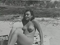 1950, Bath, Bikini, Blonde, Boobs, Classic