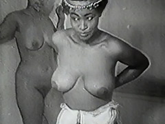 1940, Classic, Ebony, Gangbang, Group, Interracial