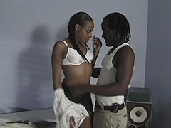 Beautiful Black Princess with an Outstanding Unshaven Cunt Receives Unforgettable Hardcore on Her Bed