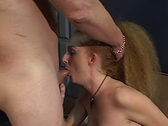 Hairy Redhead Receives a Dose of Exploitation of Her Squirting Unshaven Cunt by a Tattooed Guy