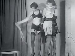 1950, Blonde, Brunette, Classic, Fetish, Lesbian