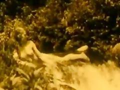 Vintage Erotic Movie 7 Nude Girl at Waterfall 1920