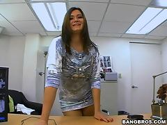 Gorgeous CeCe rides a big dick at the interview