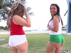 Two Sexy Sluts Big Ol' Butt's Threesome Group