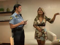 Police officer Jewels Jade laid video