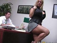 Insanely Busty Blonde Shyla Stylez Gets Anally Pounded By Her Co worker video
