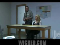 Attractive Blonde Gets Fucked While Being Interrogated