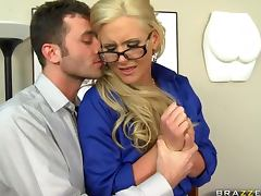 Blonde Busty Teacher Phoenix Marie Teaching How To Fuck video