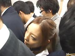 Randy Shamless Japanese Slut Azumi Mizushima Fucking in Crowded Place