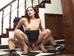 Filthy transsexual slut Camila gets naked with Chris