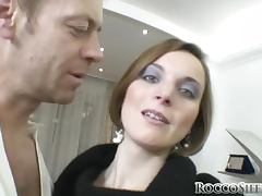 Barbara sucks and deepthroats Rocco Siffredi's massive shaft