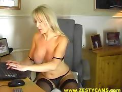 Hot Milf with Big Tits Playing With Her Pussy On Webcam