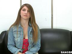 Drilling Cute Teen April McAdams's Camel Toe Pussy