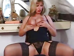 Big titted English Milf Josephine James with big dildo and gets one up the arse