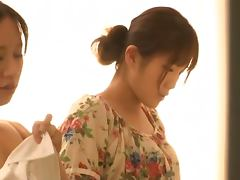 Sexy Japanese nurse cock sucking a patient
