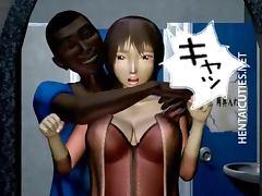 Horny hentai harlot take black penis