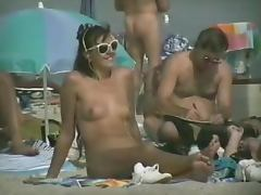 Voyeur camera on nude beach tapes some hot babes naked