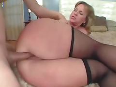 Big assed mature blonde gets her butt fucked every which way