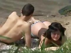 River Beach witnesses a hot doggy style sex