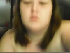 20yo fat BBW masturbates on webcam