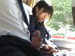 Japanese, Blowjob, Bus, Cowgirl, Fingering, Handjob