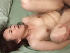 Sexy Asian mature lady gets her pussy loaded with cum