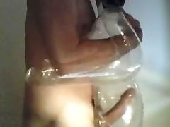 Fucking a transparent love doll
