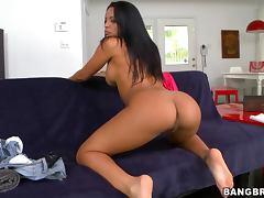 Cuban honey Luna Star rides that cock so hard