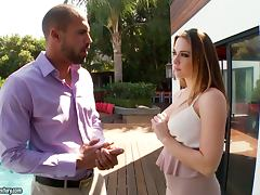 Chanel Preston sucks a massive cock and gets fucked doggy style