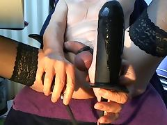 Sissy Slut Anal Play Inflatable Dildo