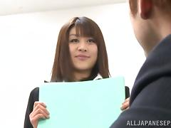Maki Kouta gets fucked by her lawyer in some secret room